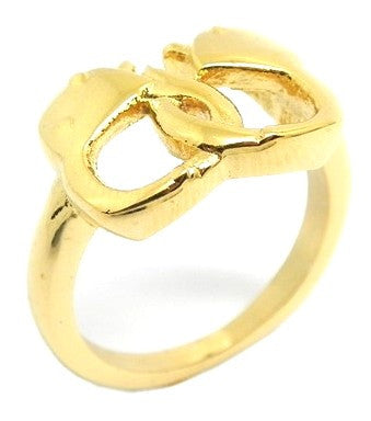Ladies 18 Kt Gold Plated Handcuff Ring