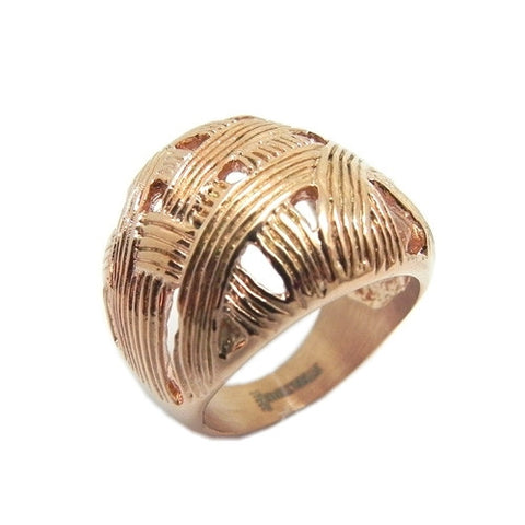 Ladies 18 Kt Rose Gold Plated Knit Ring