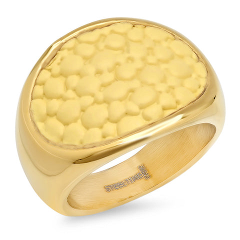 Ladies 18 KT Gold Plated Genuine Stingray Ring