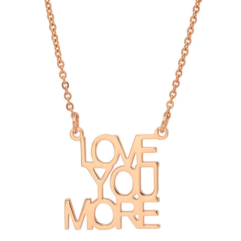 Ladies 18kt Rose Gold Plated Stainless Steel LOVE Necklace