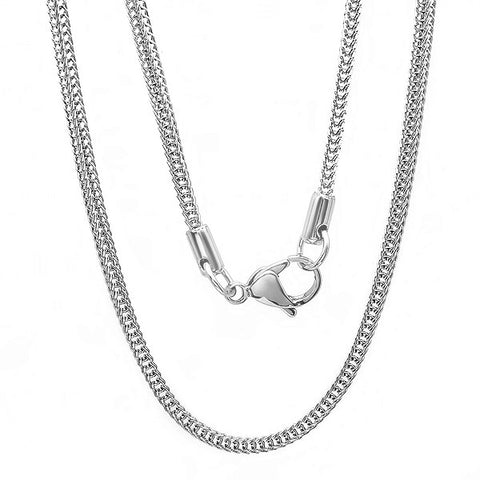 STAINLESS STEEL NECKLACE 24""