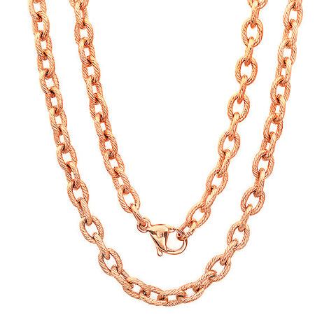18kt Rose Gold Plated Stainless Steel Chain Necklace