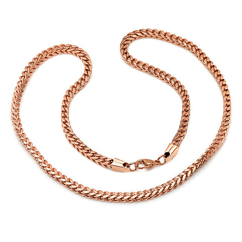 18 KT Rose Gold Plated Necklace 24""