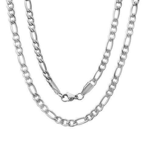 Men's Stainless Steel Filigree Chain Necklace