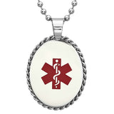 Steeltime Unisex Stainless Steel Pendant With Medical Symbol