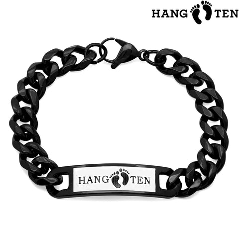 Men's Stainless Steel Black IP Bracelet