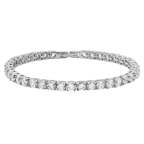 18k White Gold Plated Tennis Bracelet