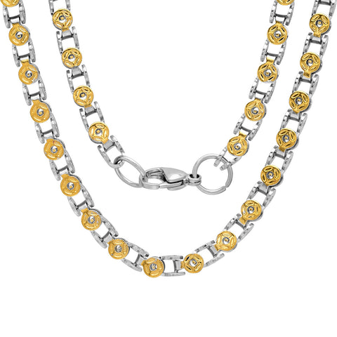 Men's 18k Gold Plated Bicycle Chain Necklace