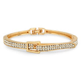 Steeltime Ladies 18k White/Gold CZ Bracelet