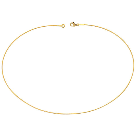 "18kt Gold Plated Stainless Steel 17"" Basic Chain"