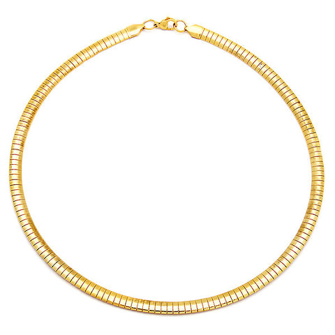 Ladies 18k Gold Plated Omega Necklace