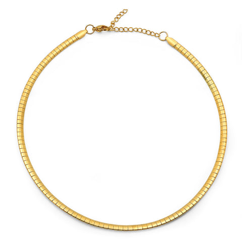 Ladies 18kt Gold Plated Stainless Steel Necklace 14""