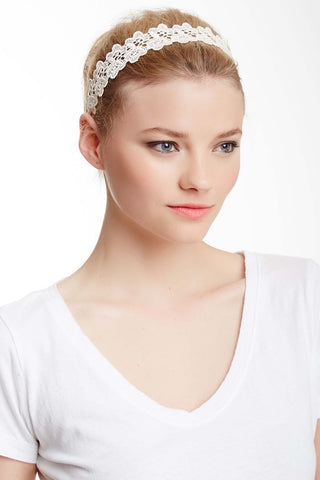 Fashion White Headband