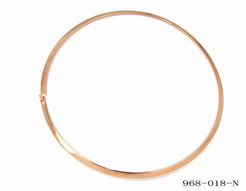 18k Rose Gold Plated Omega Necklace