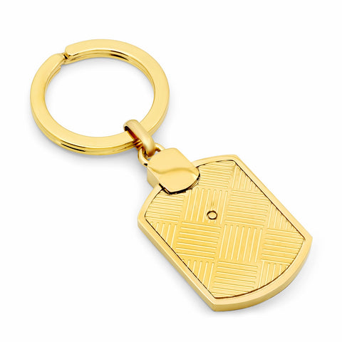 18kt Gold Plated Stainless Steel Key Chain