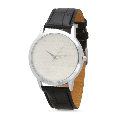 Unisex Our Father Prayer Watch