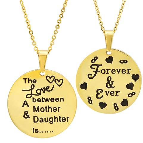 "18kt Gold Plated Stainless Steel ""Forever & Ever"" Pendant"