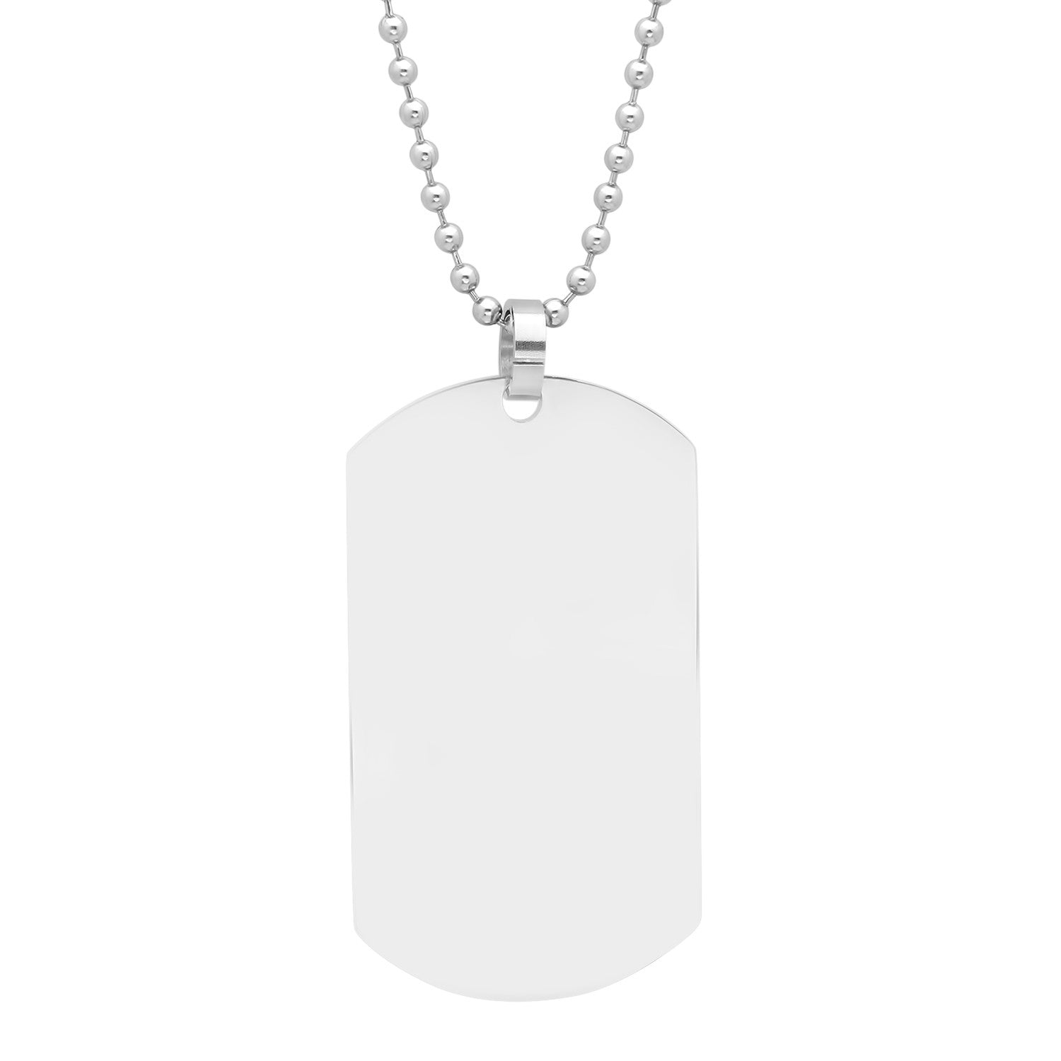 Men's Stainless Steel Name Tag Pendant