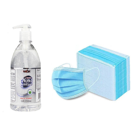 Sanitizer 16.9 oz and Masks Bundle (COVID-19)