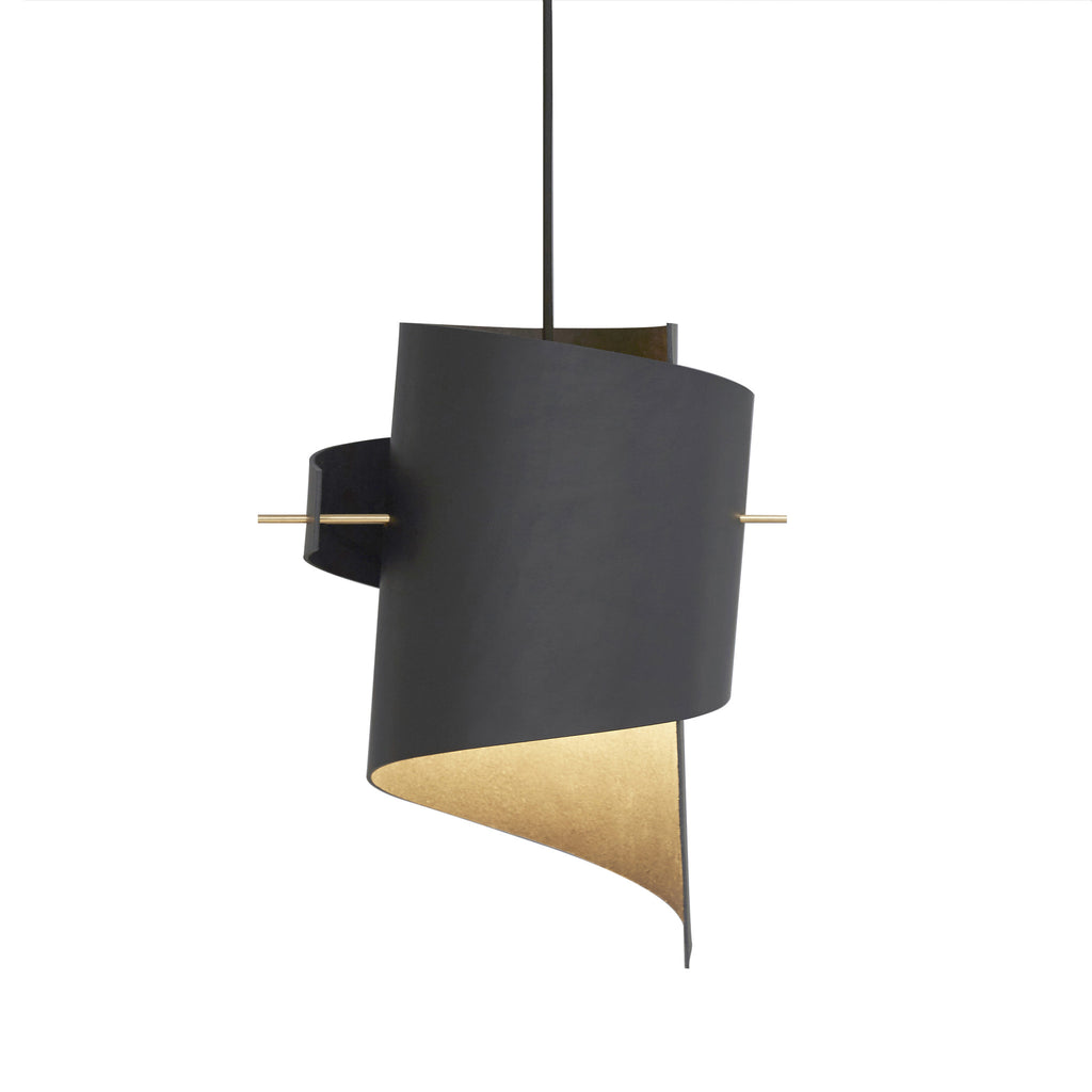 ML01 (Lamp) - Black Leather - Small