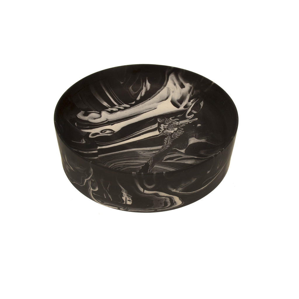 Poured Bowl (large, black)