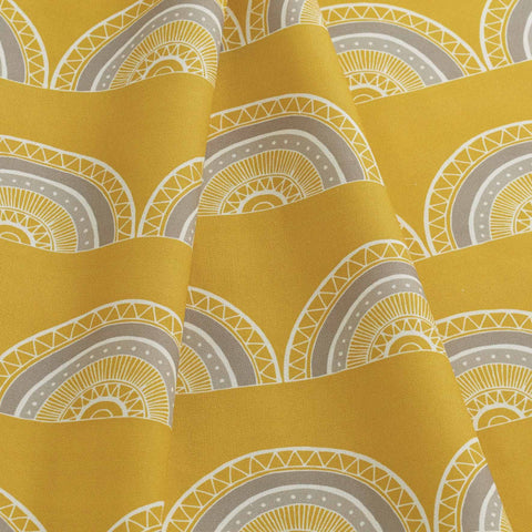 Fabric - Horseshoe Arch in Yellow
