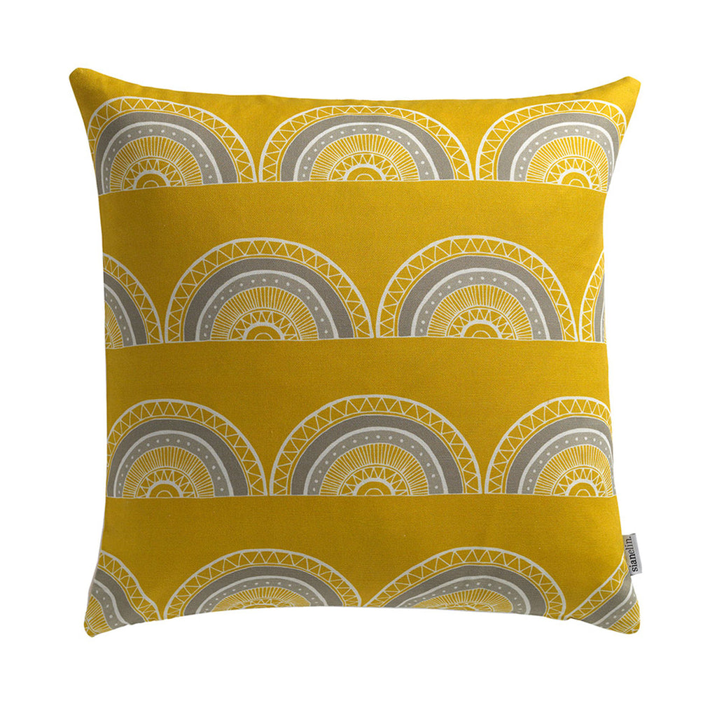 Cushion - Horseshoe Arch in Yellow