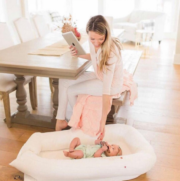 Work at Home Moms Tips from DockATot baby lounger