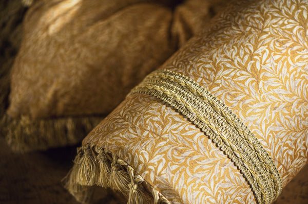 DockATot bolster cushion in Golden Willow Boughs print from the Regal Romance Collection