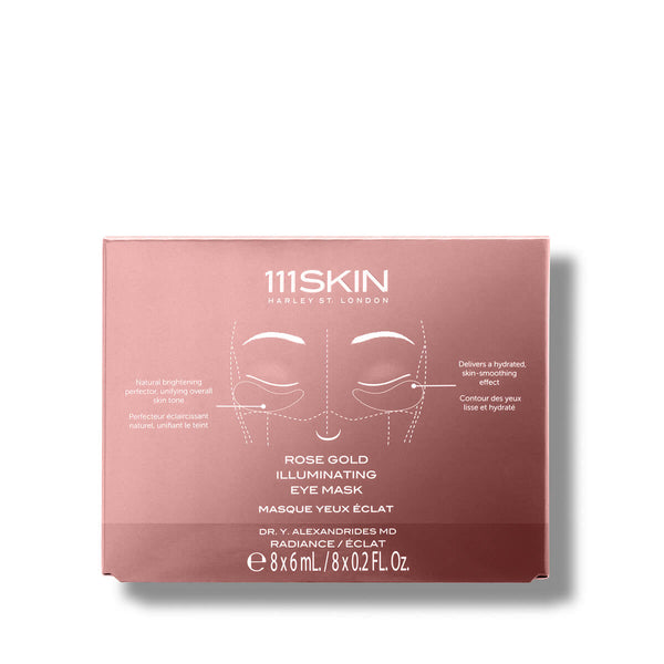 Rose Gold Illuminating Eye Mask Box of 8