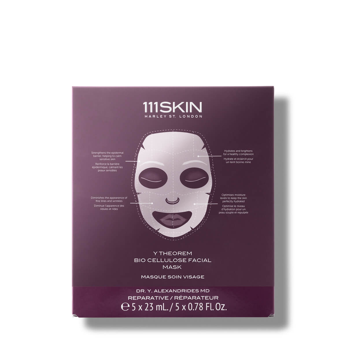 Y Theorem Bio Cellulose Facial Mask -- Box of 5
