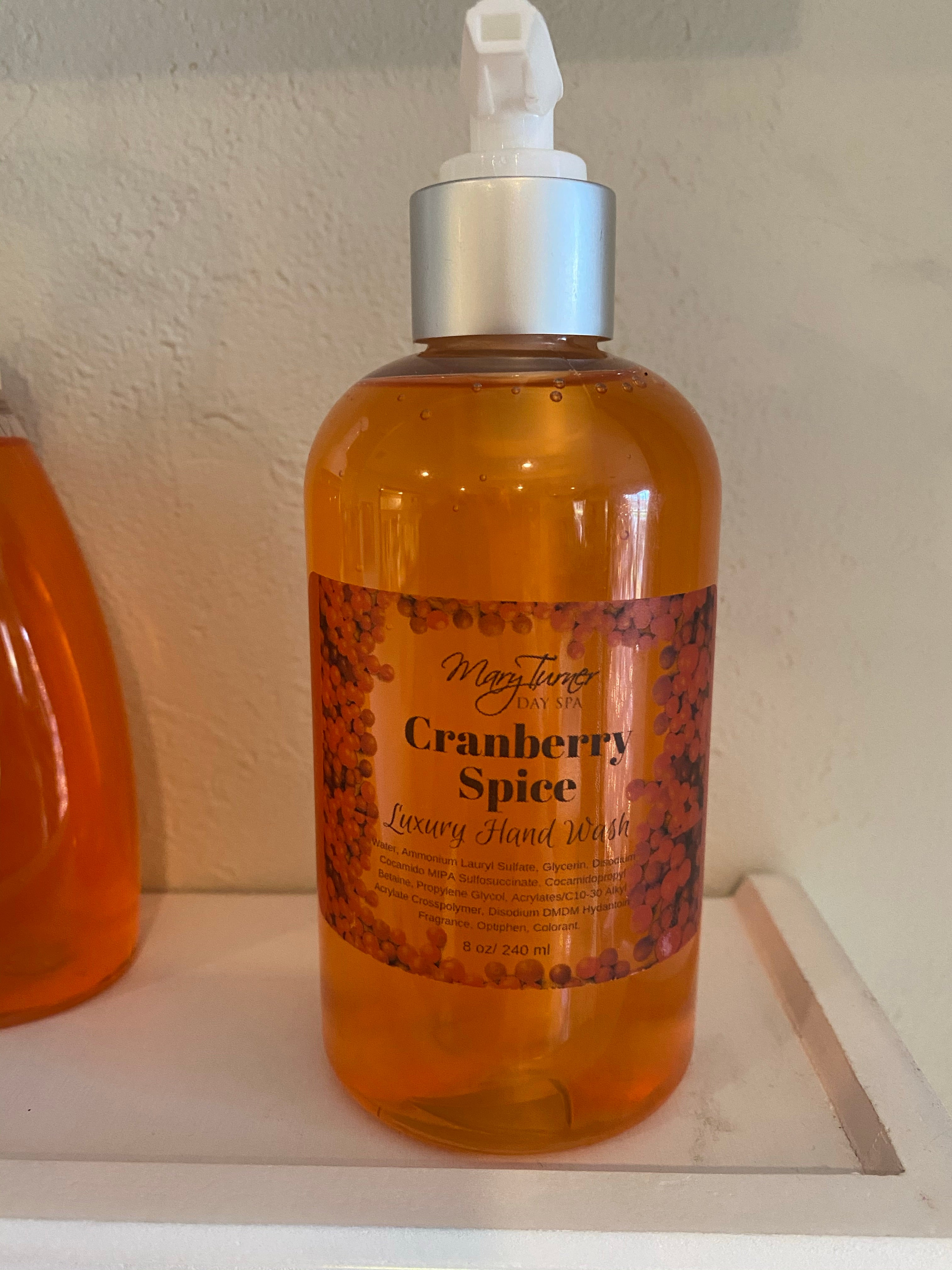 Cranberry Hand Wash - Mary Turner Day Spa & Boutique