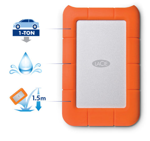 Rugged USB 3 / Thunderbolt SSD rugged protection