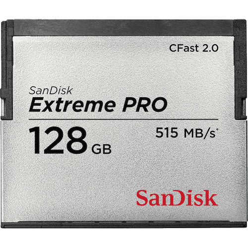 SanDisk Extreme Pro CFast Card 128GB  memory card