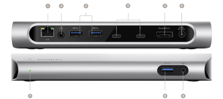 Belkin Thunderbolt3 Express Dock HD with cable