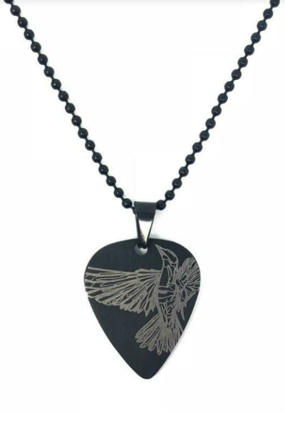 Cantor Sparrow Guitar Pick Necklace