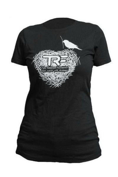 Women's and Girl's T Shirt Black