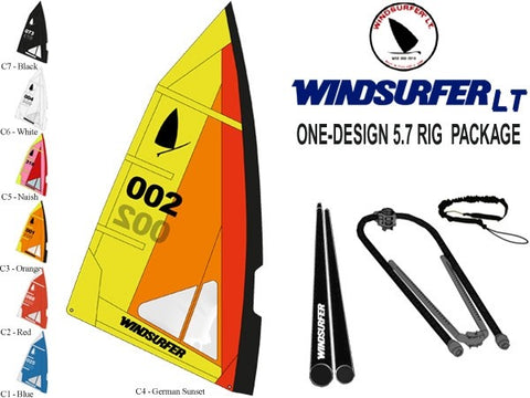 Used Windsurfer LT 5.7 Rig