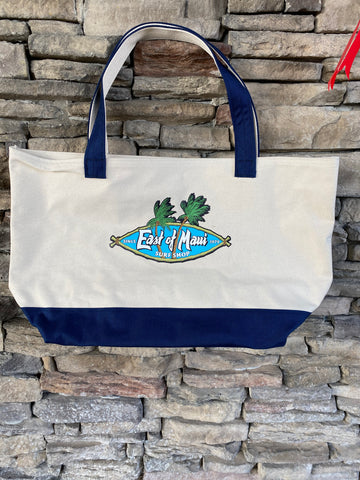 East of Maui Canvas Tote Bag blue