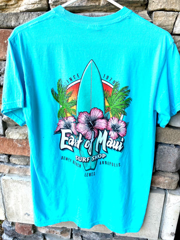 East of Maui Hibiscus Surf T-Shirt S/S
