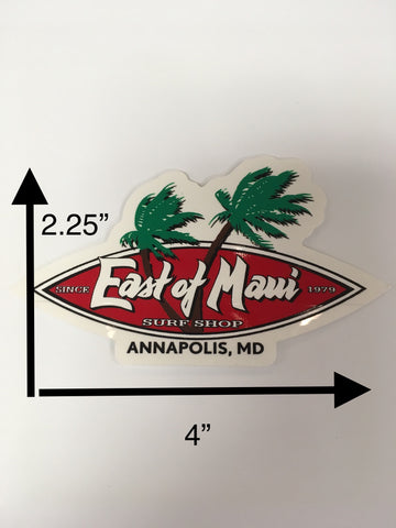 East of Maui Sticker Small