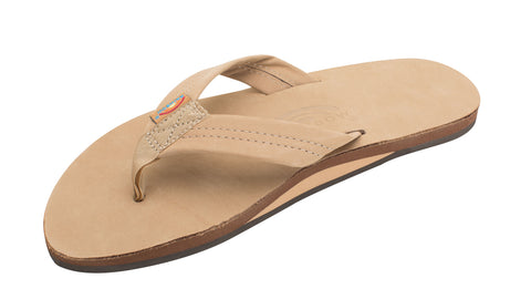 Rainbow Sandal Single Layer Premier Leather Sierra Brown