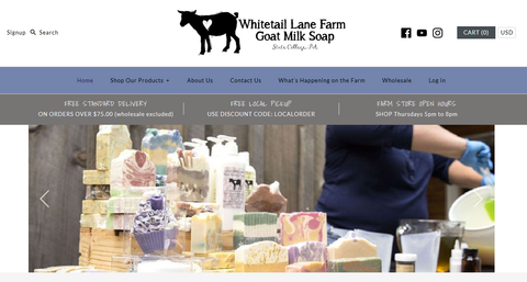 Goat Milk Soap Website
