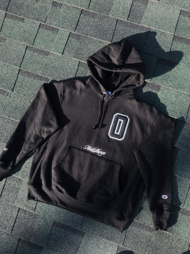 Block O (Black Size L) Hoodie 1of1 Champion x MadStrange