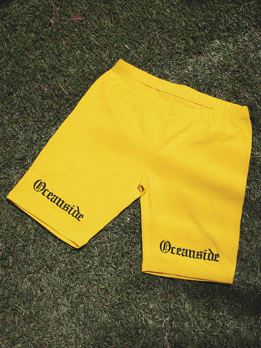 Oceanside Oe Biker Shorts (Yellow)