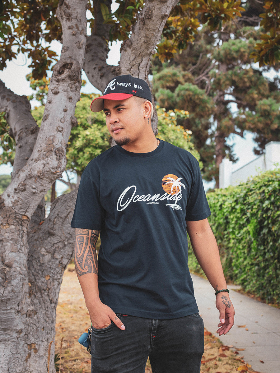 Sunset Oceanside T-Shirt (NAVY)