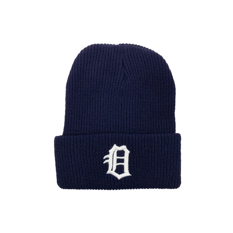Old English Oceanside Beanie (Black)