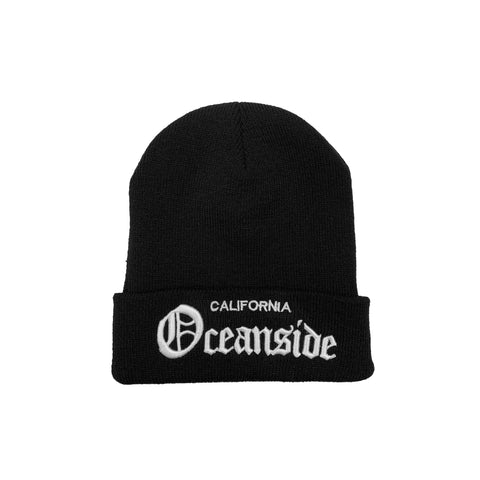 King O Knitted Beanie (Black)