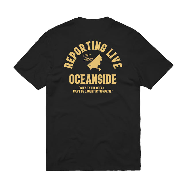 Reporting Live T-Shirt (Black)