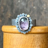 Galaxy Halo Ring with Bicolor Tourmaline